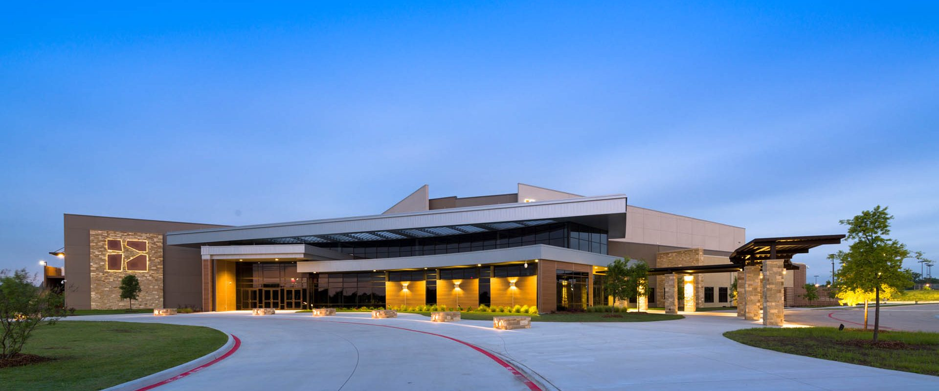 Preston Trail Community Church, Frisco, TX, photographed for HH Architects